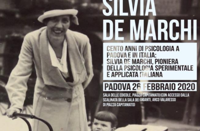 Collegamento a Silvia De Marchi (1897-1936) laureata a Padova con una tesi in psicologia sperimentale