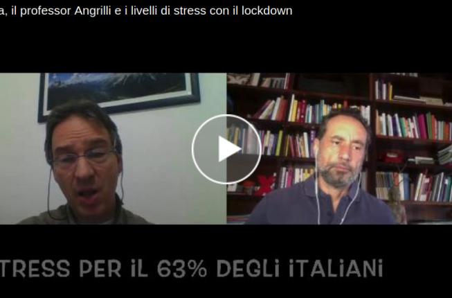 Collegamento a Padova, il professor Angrilli e i livelli di stress con il lockdown